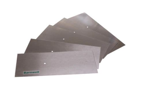 Barnwell 1.0mm Notched Adhesive Trowel Blade x 5